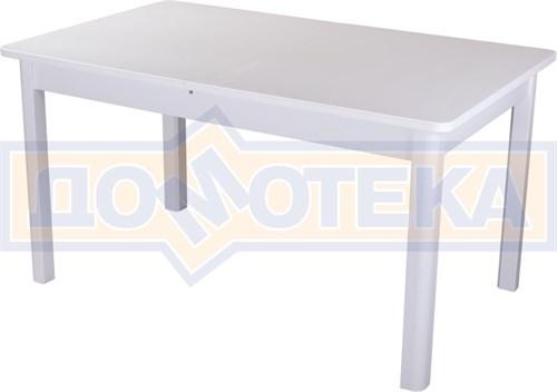 Обеденный стол с камнем Румба ПР-2 КМ 04 БЛ 04 БЛ, белый/камень белого цвета - фото 7291