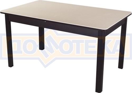 Обеденный стол с камнем Румба ПР-2 06/ВН 04 ВН венге / камень песочного цвета - фото 7298