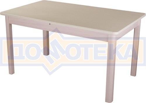 Обеденный стол с камнем Румба ПР-2 06/МД 04 МД молочный дуб / камень песочного цвета - фото 7302