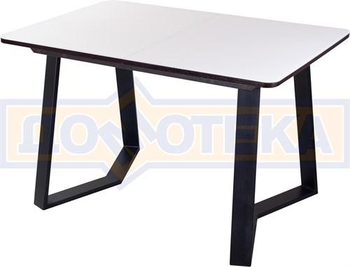 Стол со стеклом - Танго ПР-1 ВН ст-БЛ 92-1 ЧР - фото 8045