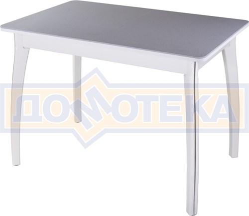Столы с камнем Румба ПР-1 КМ 07 БЛ 07 ВП БЛ, искусственный камень серого цвета с белыми вкраплениями/белый - фото 8161