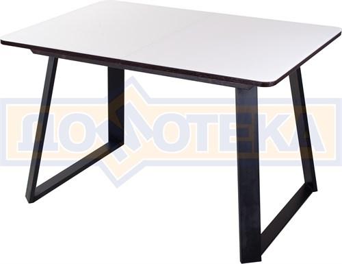 Стол со стеклом - Танго ПР-1 ВН ст-БЛ 91-1 ЧР - фото 8272