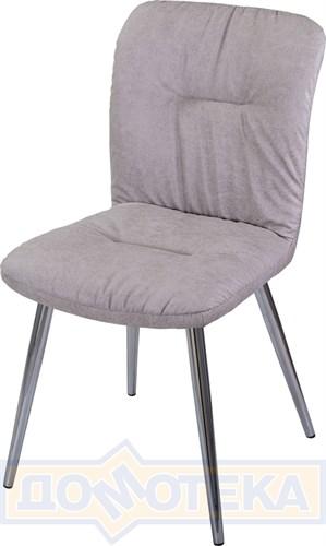 Стул Модена Z-6 серый ХР61 ножки хром - фото 8496