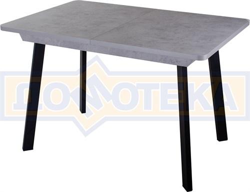 Стол Джаз ПР-1 СБ/СБ 93 ЧР (Серый бетон, ножки металл) - фото 8833