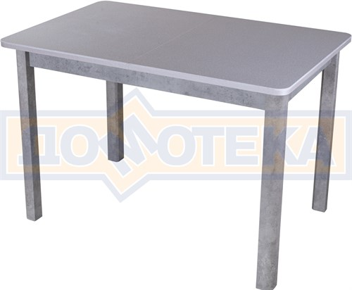 Столы с камнем Румба ПР КМ 07 СБ 04 СБ, искусственный камень серого цвета с белыми вкраплениями - фото 9294