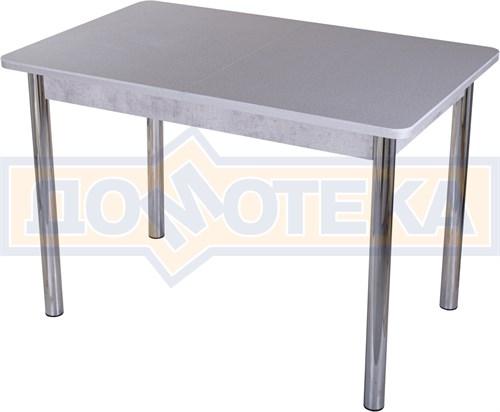Столы с камнем Румба ПР КМ 07 СБ 02, искусственный камень серого цвета с белыми вкраплениями - фото 9300