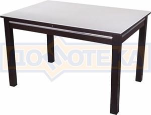 Стол обеденный прямоугольный Бета-1 КМ 04(6) ВН 08ВН венге с белым камнем