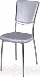 Стул кухонный Омега-5 Д-1/Д-1 спД-1/Д-1 серебристый с узором, повышенной комфортности