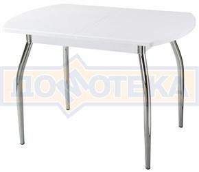 Стол кухонный Реал ПО КМ 04 (6) БЛ 01 белый