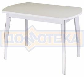 Стол кухонный Реал ПО КМ 04 (6) БЛ 07 ВП БЛ белый