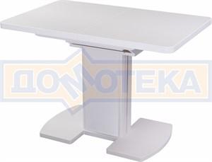 Стол кухонный Реал ПР КМ 04 (6) БЛ 05 ВП БЛ/БЛ КМ 04 белый