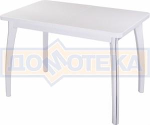 Стол кухонный Реал ПР КМ 04 (6) БЛ 07 ВП БЛ белый