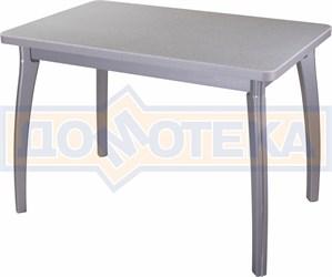 Стол кухонный Реал ПР КМ 07 (6) СР 07 ВП СР серый
