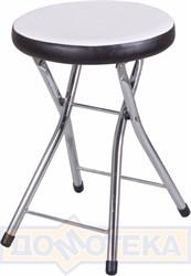 Кухонный табурет Соренто В-0/В-4 искрящийся белый/черный венге, повышенной комфортности