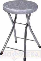Кухонный табурет Соренто Д-1/Д-1 серебристый с узором, повышенной комфортности