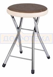 Кухонный табурет Соренто Д-4/В-1 коричневый (темная бронза) с узором/бежевый, повышенной комфортности