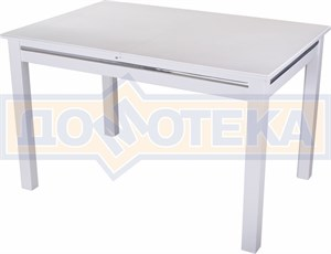 Стол обеденный Бета КМ 04(6) БЛ 08 БЛ белый