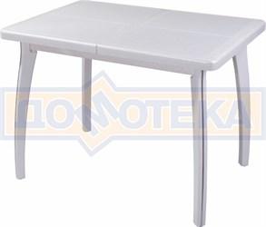 Стол обеденный Шарди ПР ВП БС 07 ВП БЛ пл31 бело-серебристый