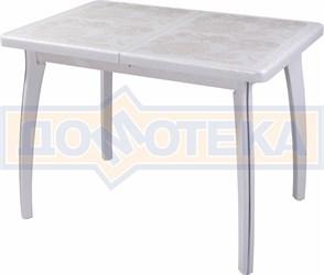 Стол обеденный Шарди ПР ВП БС 07 ВП БЛ пл32 бело-серебристый