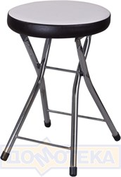 Кухонный табурет Соренто А0/В4, белый с эффектом замши/темный венге, повышенной комфортности
