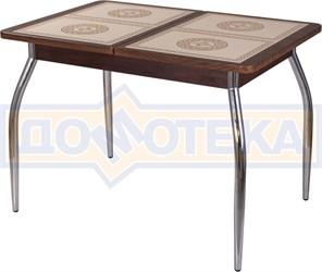 Стол с плиткой - Каппа ПР ВП ОР 01 пл 52 ,орех