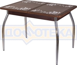 Стол с плиткой - Каппа ПР ВП ОР 01 пл 44 ,орех
