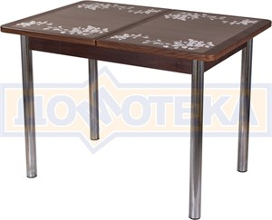 Стол с плиткой - Каппа ПР ВП ОР 02 пл 44 ,орех