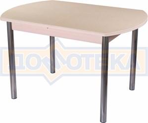 Стол с камнем - Румба ПО КМ 06 МД 02 ,молочный дуб