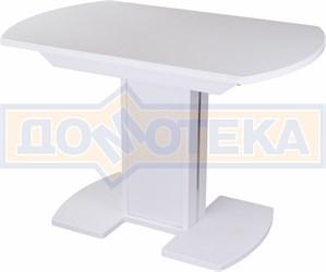 Стол с камнем - Румба ПО-1 КМ 04 БЛ 05-1 БЛ/БЛ КМ 04 ,белый