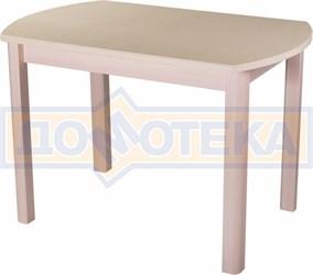 Стол с камнем - Румба ПО-1 КМ 06 МД 04 МД ,молочный дуб