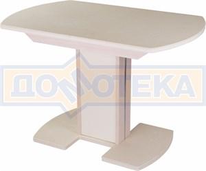 Стол с камнем - Румба ПО-1 КМ 06 МД 05-1 МД/КР КМ 06 ,молочный дуб