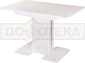 Стол с камнем - Румба ПР КМ 04 БЛ 05 БЛ/БЛ КМ 04 ,белый