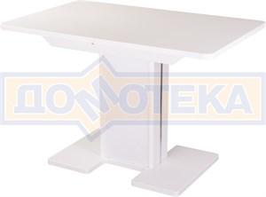 Стол с камнем - Румба ПР-1 КМ 04 БЛ 05-1 БЛ/БЛ КМ 04 ,белый