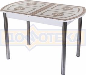 Стол со стеклом - Танго ПО БЛ ст-71 02 ,белый