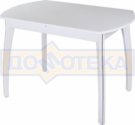 Стол со стеклом - Танго ПО БЛ ст-БЛ 07 ВП БЛ ,белый