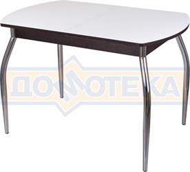 Стол со стеклом - Танго ПО ВН ст-БЛ 01 ,венге