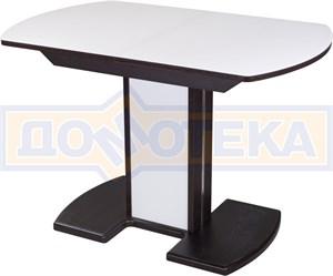 Стол со стеклом - Танго ПО ВН ст-БЛ 05 ВН/БЛ ,венге