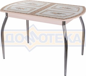 Стол со стеклом - Танго ПО МД ст-72 01 ,молочный дуб