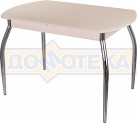 Стол со стеклом - Танго ПО МД ст-КР 01 ,молочный дуб