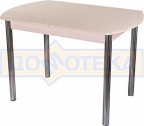 Стол со стеклом - Танго ПО МД ст-КР 02 ,молочный дуб