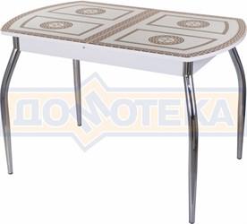 Стол со стеклом - Танго ПО-1 БЛ ст-71 01 ,белый