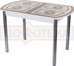Стол со стеклом - Танго ПО-1 БЛ ст-71 02 ,белый