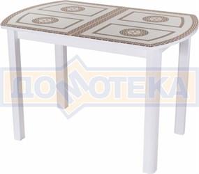 Стол со стеклом - Танго ПО-1 БЛ ст-71 04 БЛ ,белый