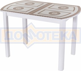 Стол со стеклом - Танго ПО-1 БЛ ст-71 04 ВЛ ,белый