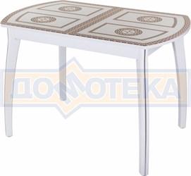 Стол со стеклом - Танго ПО-1 БЛ ст-71 07 ВП БЛ ,белый