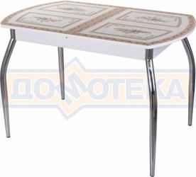 Стол со стеклом - Танго ПО-1 БЛ ст-72 01 ,белый