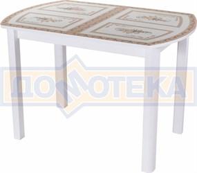 Стол со стеклом - Танго ПО-1 БЛ ст-72 04 БЛ ,белый