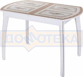 Стол со стеклом - Танго ПО-1 БЛ ст-72 07 ВП БЛ ,белый