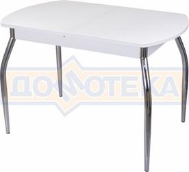 Стол со стеклом - Танго ПО-1 БЛ ст-БЛ 01 ,белый