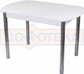 Стол со стеклом - Танго ПО-1 БЛ ст-БЛ 02 ,белый